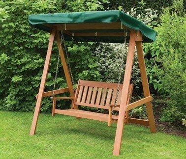 скамейка-качалка для сада